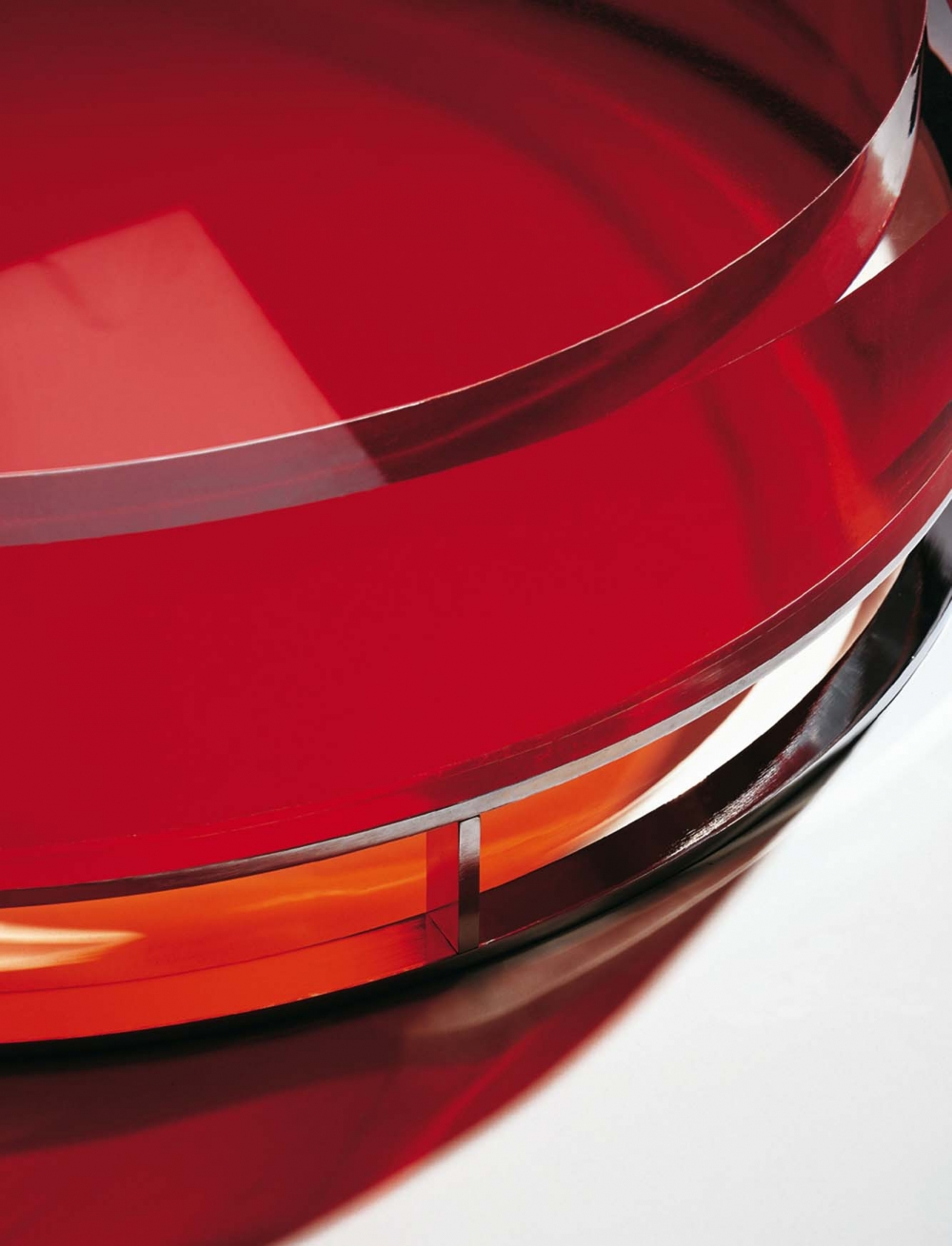 Furniture Design Table Pastille red close-up