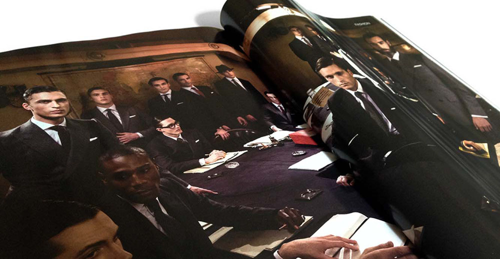 Anderson & Sheppard printed brand materials GQ UK The English Gentleman at the Cabinet War Rooms