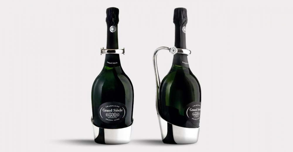 Product Package Design for Laurent Perrier grand siecle champagne grand cuvee two bottles