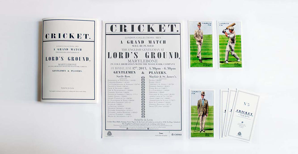 Anderson & Sheppard printed brand materials The English Gentleman at Lord's