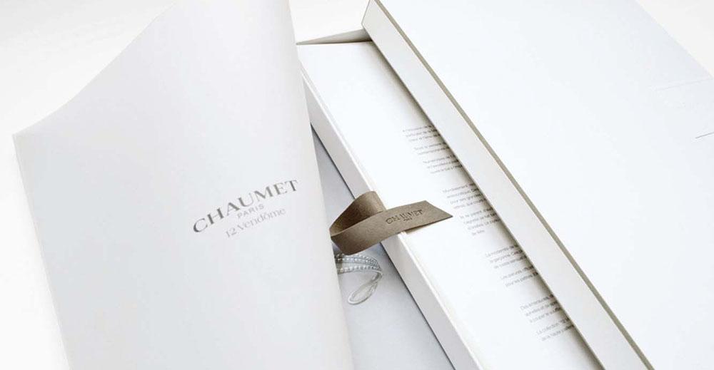 Portfolio book design for Chaumet Paris limited edition