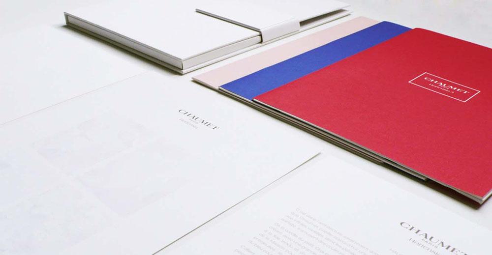 Portfolio book design for Chaumet Paris Hortensia collection contents