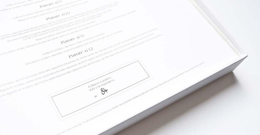 Portfolio book design for Chaumet Paris Limited Edition 100 copies