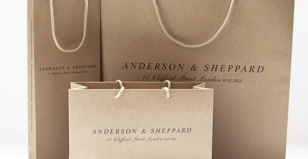 Brand Visual Advertising for Anderson & Sheppard