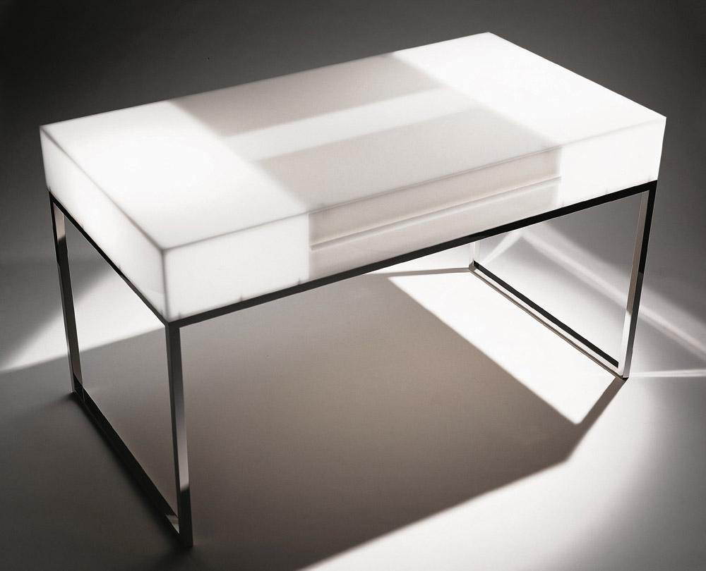 Custom interior design luxury home decor bureau lumineaux lightbox table