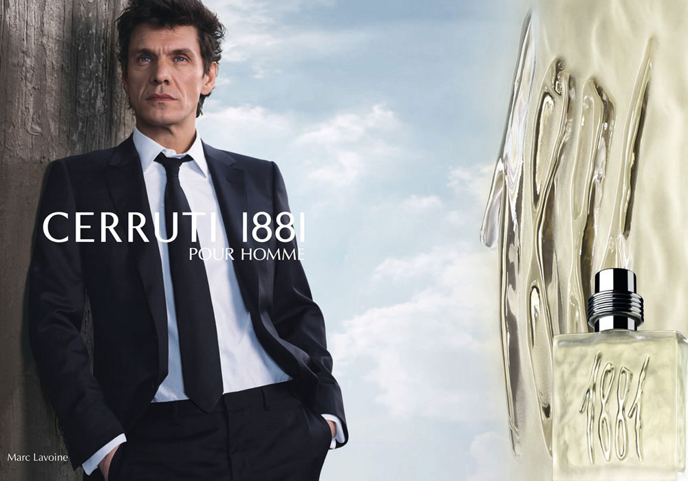 Brand Visual Advertising for Cerruti Marc Lavoine
