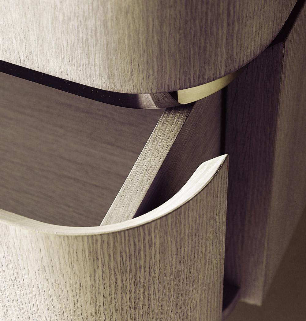 Custom furniture design luxury home decor wood XL commode close up