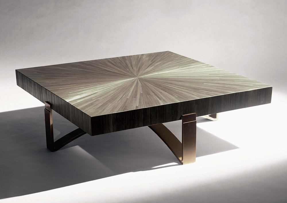 Custom furniture design square wood coffee table