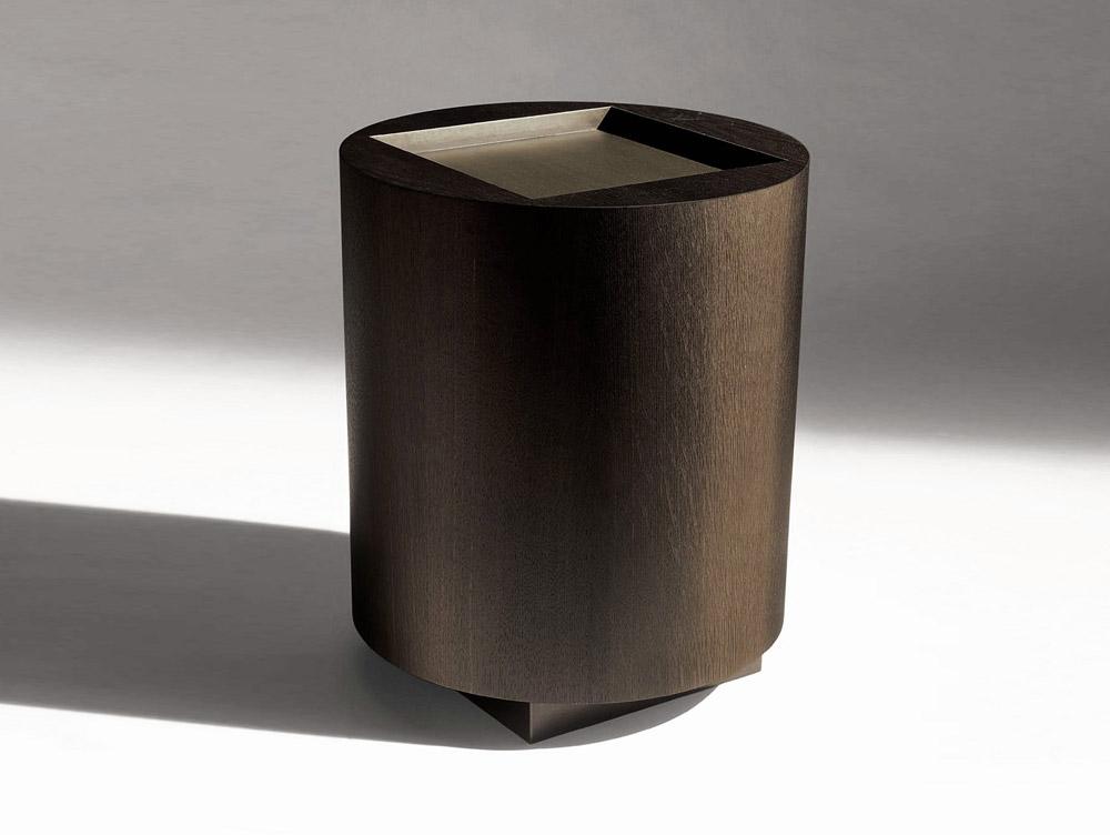 Custom furniture design luxury home decor wood round pedestal table gueridon fut