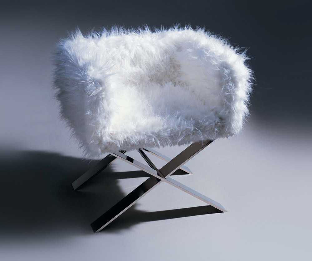 Custom furniture design luxury home decor fauteuil X armchair