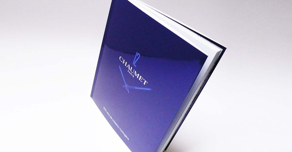 Portfolio book design for Chaumet Paris 200 years of watch creation horlogere