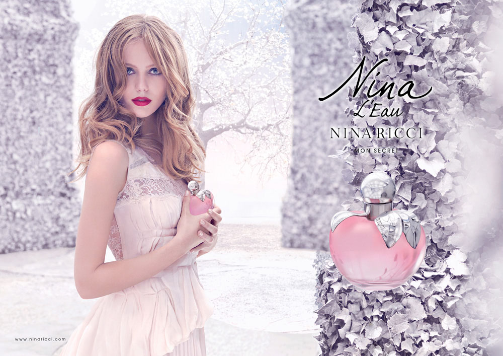 Brand Visual Advertising for Nina Ricci fragrance L'Eau woman