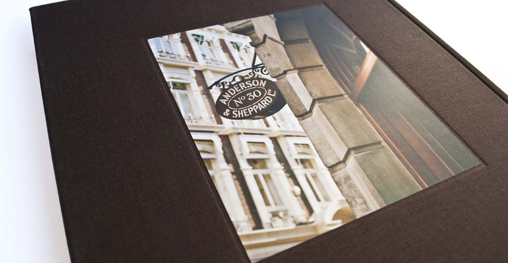 Anderson & Sheppard printed brand materials A Style Is Born