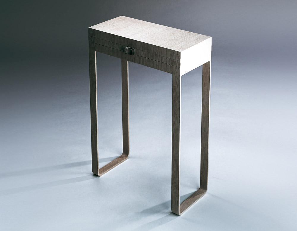 Custom furniture design luxury home decor wood chevet double peau wood bedside table