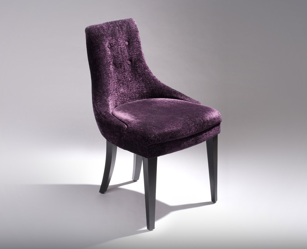 Custom furniture design luxury home decor chaise 19 purple fabric chaise
