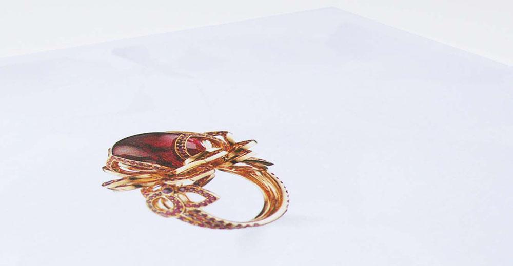 Chaumet Paris portfolio book Hortensia collection Hortensia 1 necklace