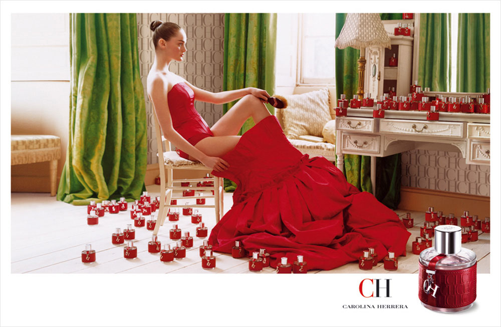 Brand Visual Advertising for Carolina Herrera fragrance CH woman Tim Walker
