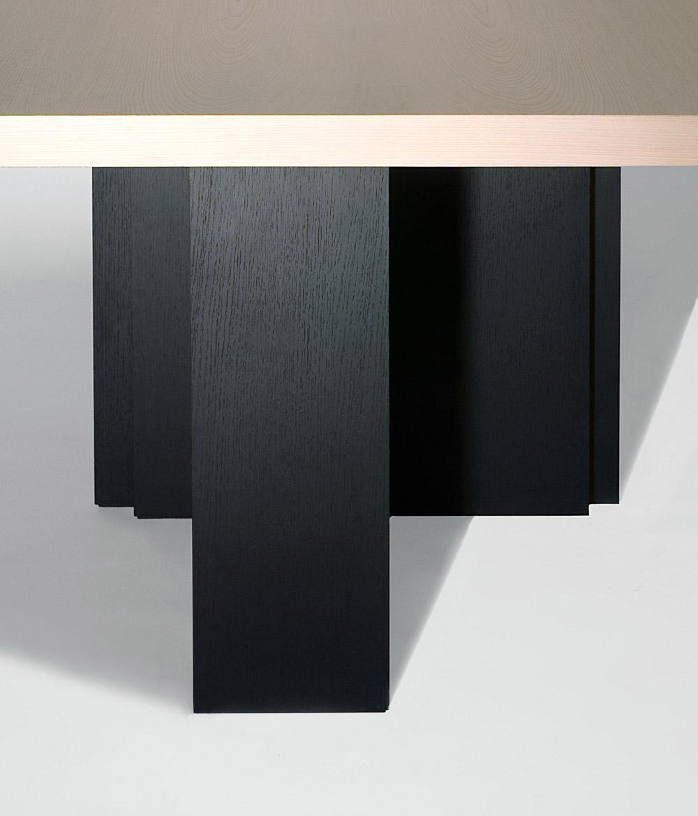 Custom furniture design luxury home decor table la blonde wood table blonde wood close up