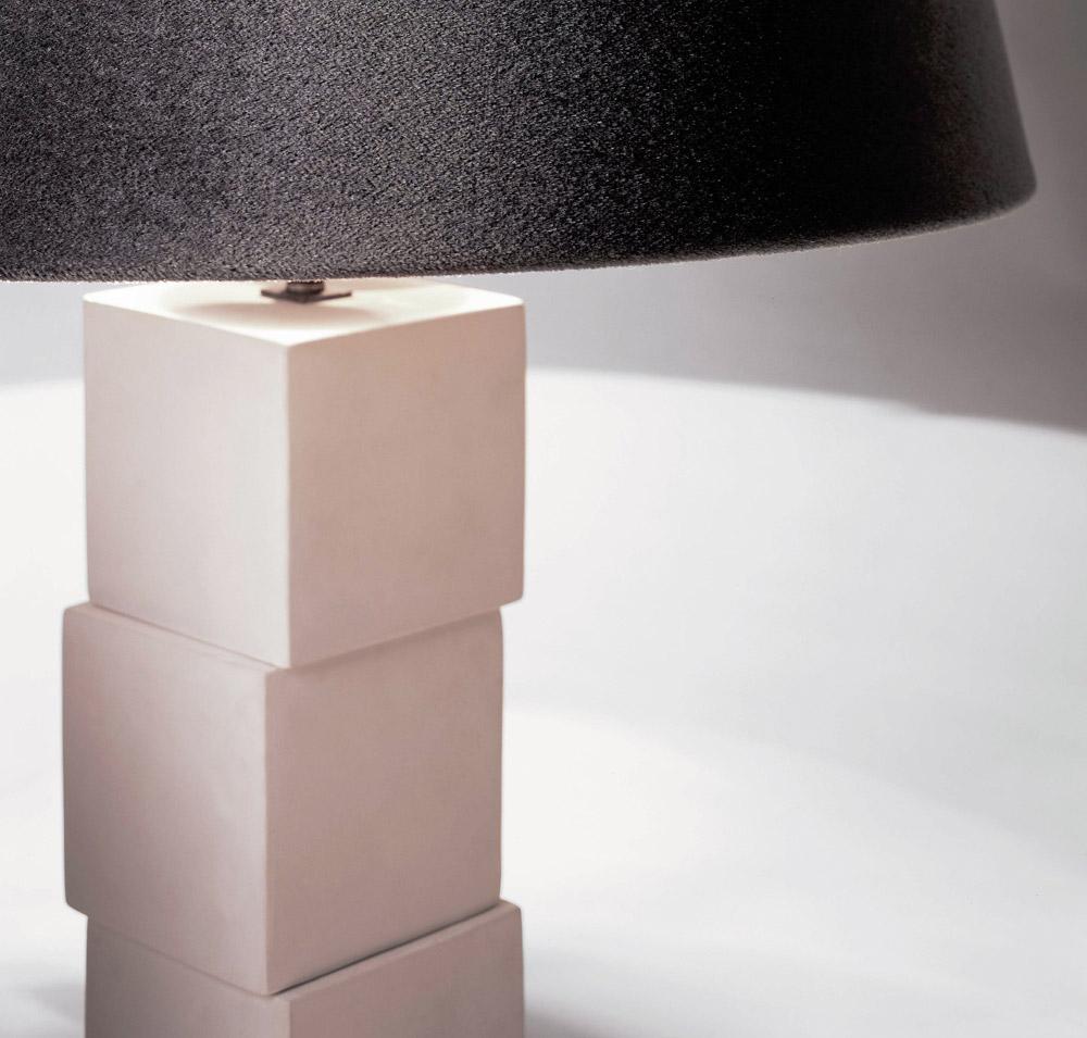 Custom furniture design luxury home decor lampe cubes cube base lamp