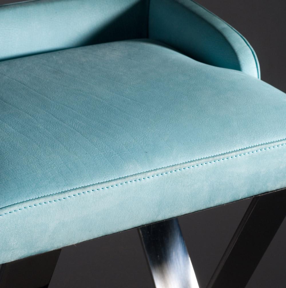 Custom furniture design luxury home decor tabouret 19 leather stool close up
