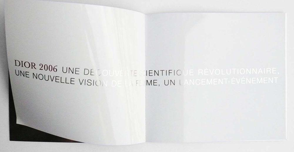 Portfolio book design for Christian Dior Dior skincare capture totale