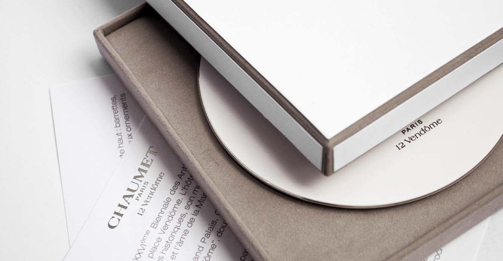 DVD packaging design paper inserts for Chaumet Paris biennale