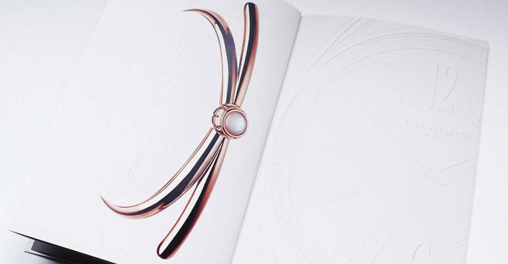 Portfolio book design for Chaumet Paris Liens de Chaumet watch collection