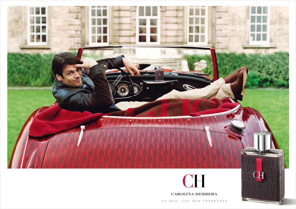 Brand Visual Advertising for Carolina Herrera fragrance CH men