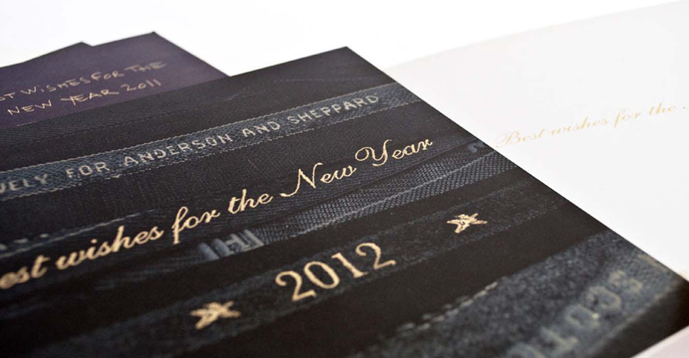 Anderson & Sheppard printed paper holiday card 2012