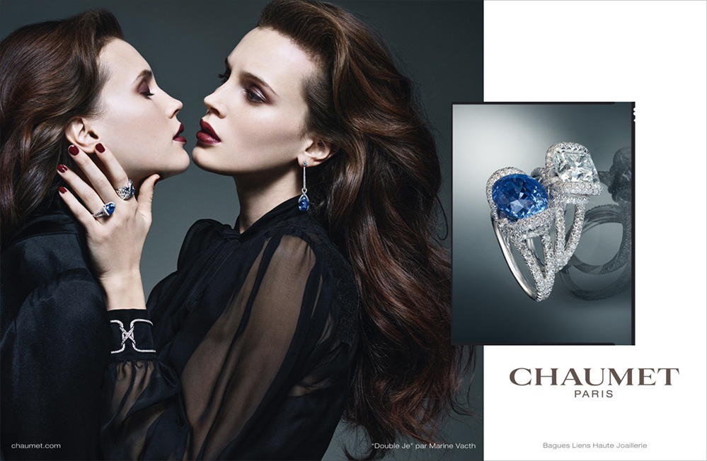 Brand Visual Advertising for Chaumet Paris Double Je par Marine Vacth
